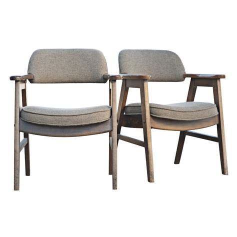 2 mid century modern seba scandinavian arm chairs