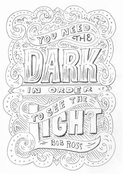 Quotes Bob Ross Coloring Drawing Quote Behance