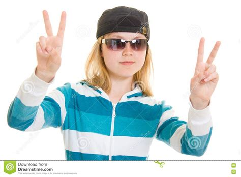 cool teen royalty  stock photo image