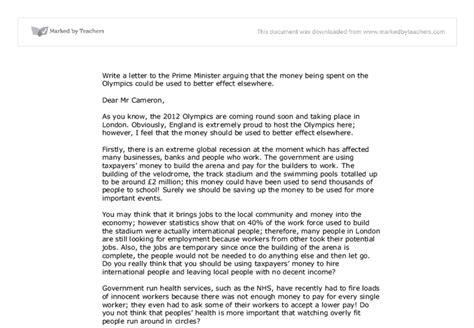 write  letter   prime minister arguing