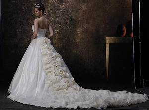 Wedding dresses trains for Train wedding dress