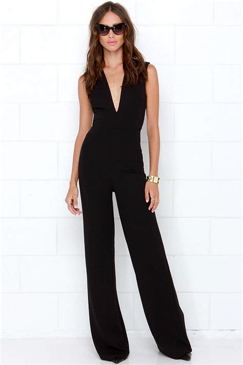 lulus jumpsuit black jumpsuit sleeveless jumpsuit 49 00