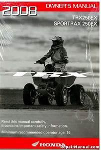 New Factory Honda 2002 Trx250ex Sportrax250ex Owner Manual