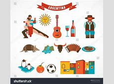 Argentina Set Icons Illustrations Stock Vector 265560800