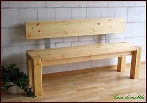 Sitzbank Holz Mit Lehne : massivholz sitzbank mit r ckenlehne kiefer bank lehne 160 holz massiv lackiert ebay ~ Buech-reservation.com Haus und Dekorationen