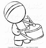 Coloring Drummer Person Drum Chinese Bongo Clipart Pages Vector Outlined Hippie Player Student Blanchette Leo Clipartmag sketch template