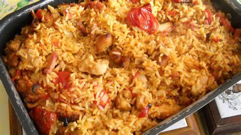 cuisine marocaine facile riz au poulet et légumes recette az