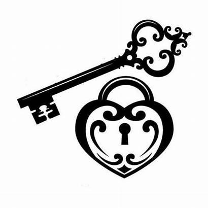 Heart Padlock Key Simple Dxf Cnc