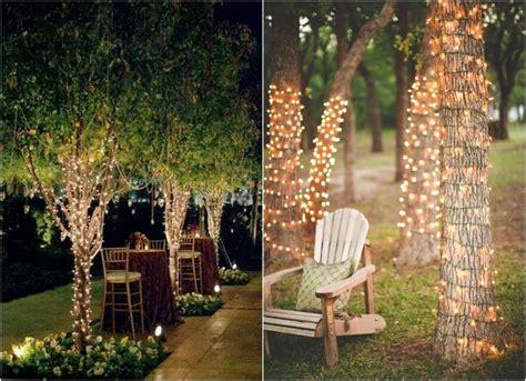 gartenbeleuchtung ideen mit party lichterketten aussen