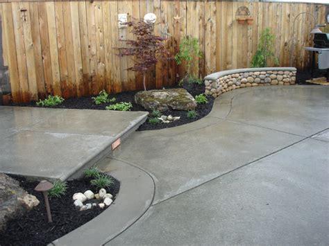 backyard cement ideas best patio materials outdoortheme com