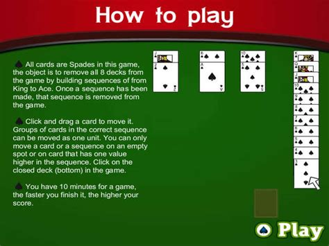how to play spades spades spider solitaire 2 online free game gamehouse