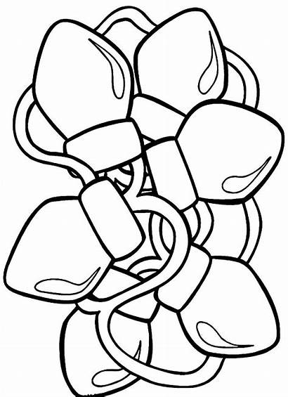 Coloring Christmas Lights Tree Pages Printable Getcolorings