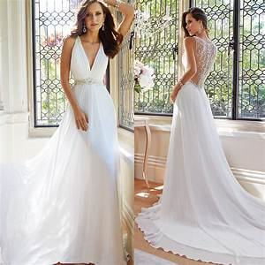 new arrival simple elegant white summer beach wedding With simple elegant wedding dresses for the beach