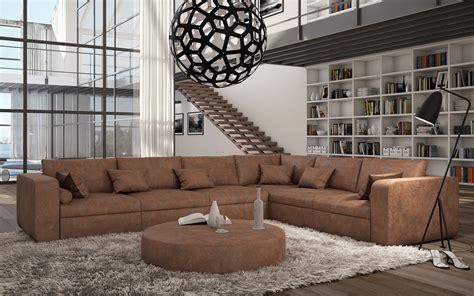 canap en l canapé d 39 angle design en cuir retoria 1 839 00