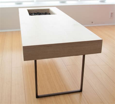 If you don't need a super durable finish (e.g. craft design » VOLUME coffee table…..$500 (click for more ...