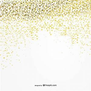 Golden confetti background Vector Free Download