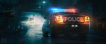 Police Patrol Digital 5k Wallpapers 4k Artist