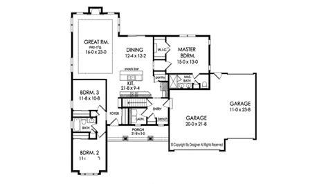 ranch style house plan  beds  baths  sqft plan   ranch style house plans