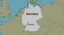 Frankfurt Germany - Location Map