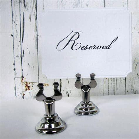 wedding place card holder table number holder silver