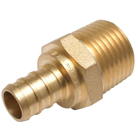 kitchen faucet adapters sharkbite 1 2 in brass pex barb x pipe thread