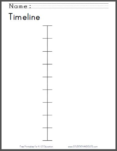 timeline worksheet for free to print primary