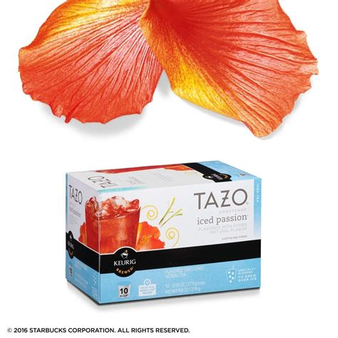 Tazo Sweetened Passion Iced Tea K Cup For Keurig Brewers