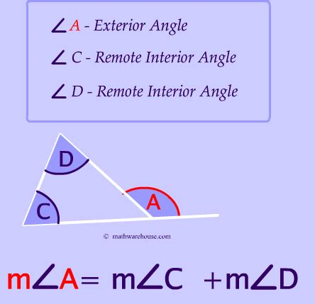 remote exterior  interior angles   triangle