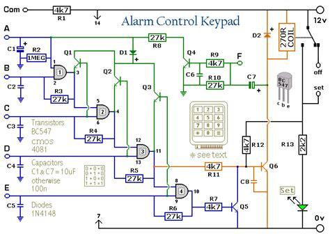 Alarm Keypad Circuit Schematic Diagram Wiring