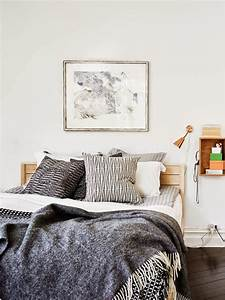 Agencer Une Chambre : chambre tout en blanc 19 id es de d cor blanc cette pi ce ~ Zukunftsfamilie.com Idées de Décoration