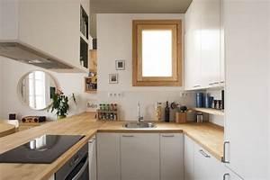Küchenideen U Form : holz arbeitsplatten kueche modern u form klein weisse schranke abzugshaube k chenideen ~ Eleganceandgraceweddings.com Haus und Dekorationen
