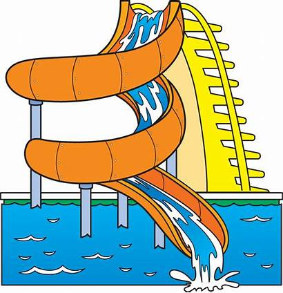 Water Slide Clip Clipart Park Waterslide Pool