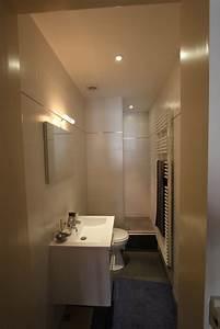 amenager salle de bain en longueur salle de bain idees With amenager une petite salle de bain en longueur