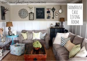 my livingroom chic on a shoestring decorating my farmhouse chic living room reveal