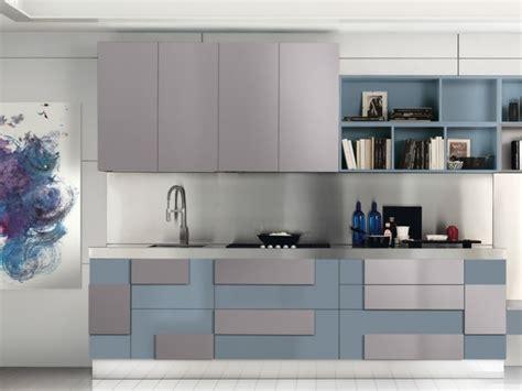cuisine gris bleu deco cuisine grise et beige