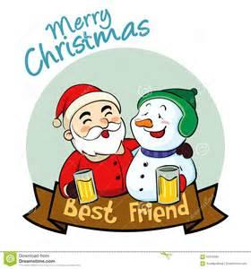 merry best friend stock vector image 62070335