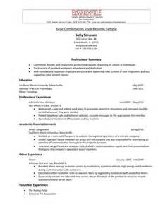 Acting Resume Templates Style Resume Sle Resume Format