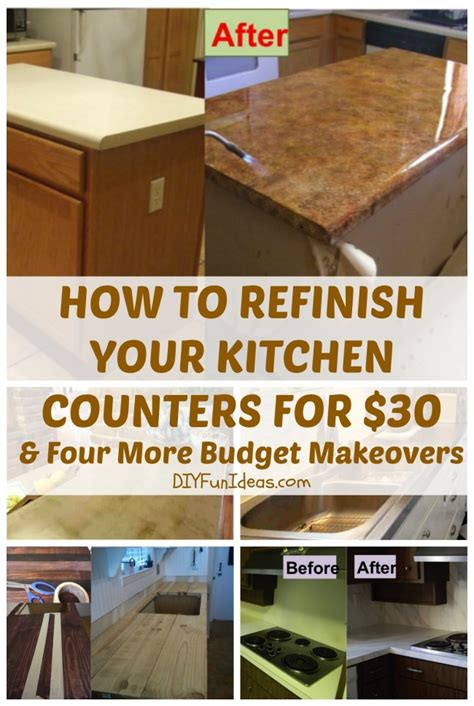 kitchen countertop ideas on a budget how to refinish your kitchen counter tops for only 30