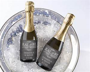 personalized eat drink be married mini wine bottle With champagne bottle labels for weddings