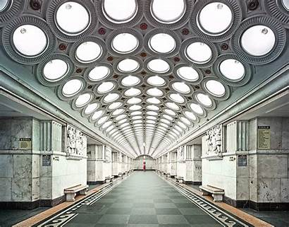Moscow Metro Stations Empty Beauty Capture Opulent