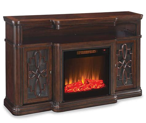 fireplace tv stand big lots 60 quot walnut finish electric fireplace at big lots my