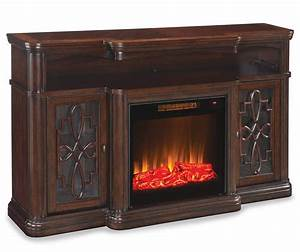 60quot Walnut Finish Electric Fireplace At Big Lots My