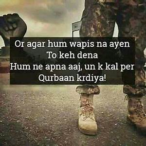 Love Pak Army Z... Pak Love Quotes
