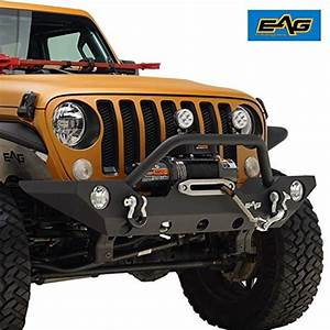 Eag Front Bumper With Fog Light Hole  U0026 Winch Plate Fit For