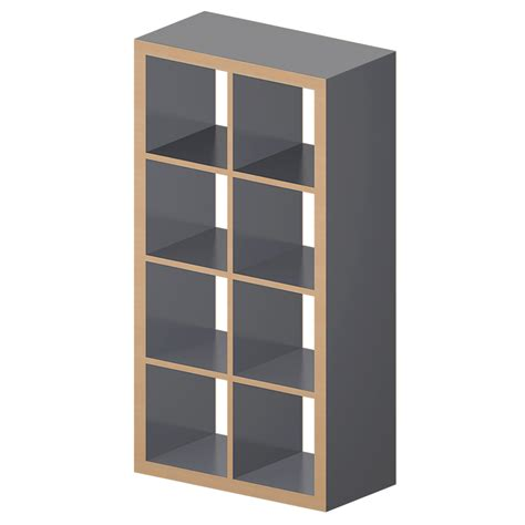 etagere de bureau ikea etagere ikea cad and bim object kallax etagere gray wood