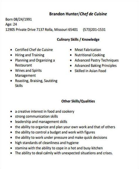 cook resume templates    premium templates