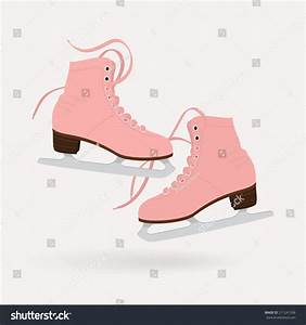 Vector Illustration Classic Pink Ice Skates Stock Vector ...