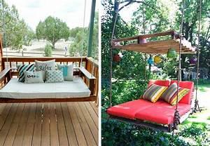 Balancelle De Jardin En Bois : les palettes r inventent le mobilier de jardin bnbstaging le blog ~ Teatrodelosmanantiales.com Idées de Décoration
