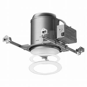 Halo E26 Series 6 In  White Recessed Lighting Housing For