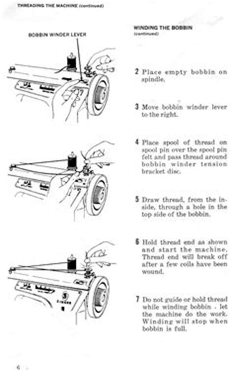 Elna Supermatic Sewing Machine Threading Diagram For The